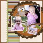 Who Loves You Scrapbooking Quick Page